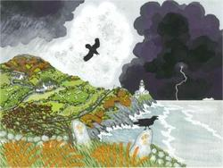 Sarah Earl - November Ravens at Stormy Strumble