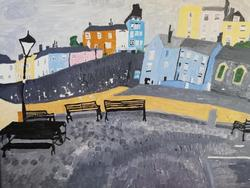 Lizzie Tobin - Tenby Harbour on a Grey Day